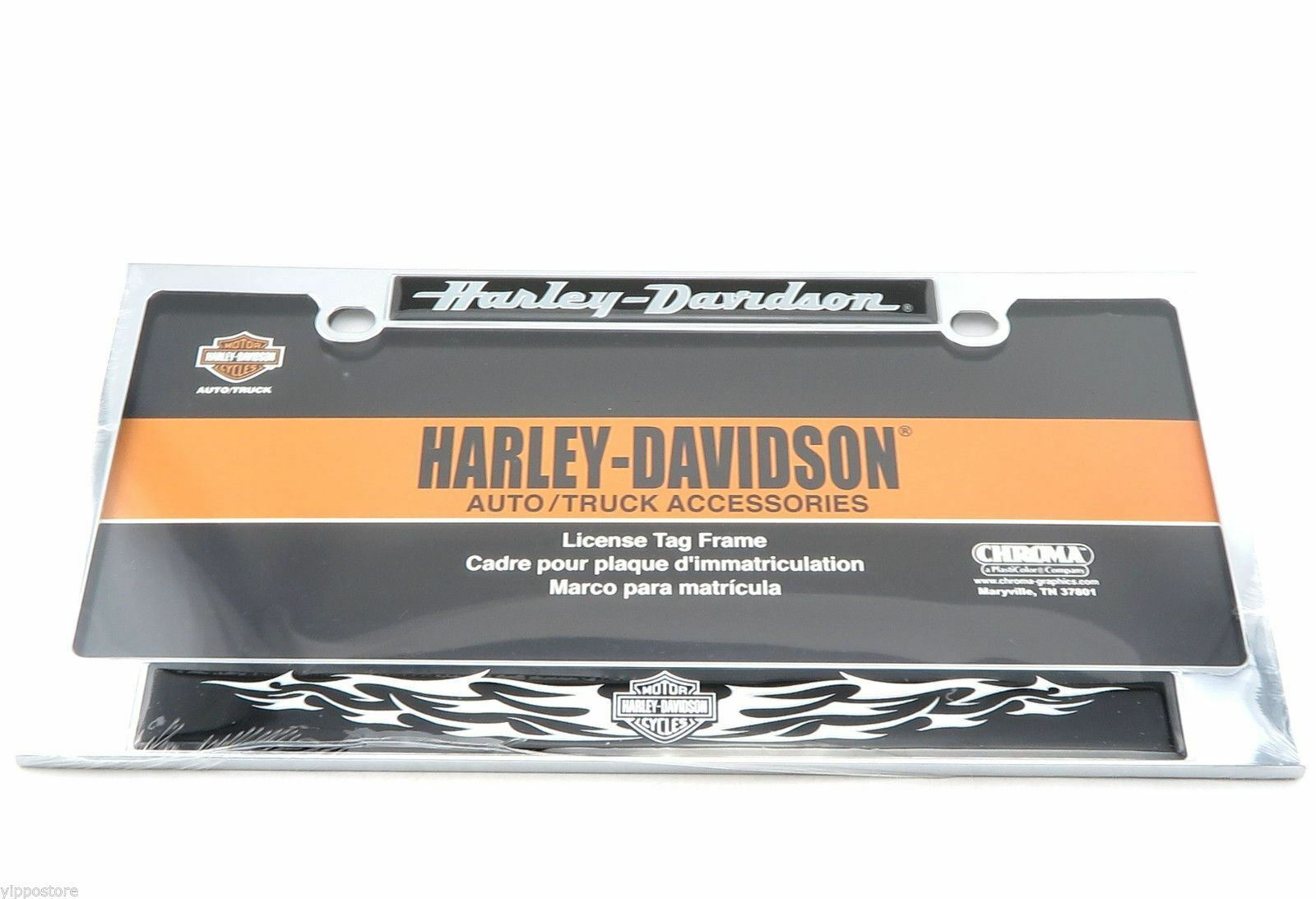 HARLEY DAVIDSON MOTORCYCLES Chrome Dome Metal Auto Tag License Plate ...