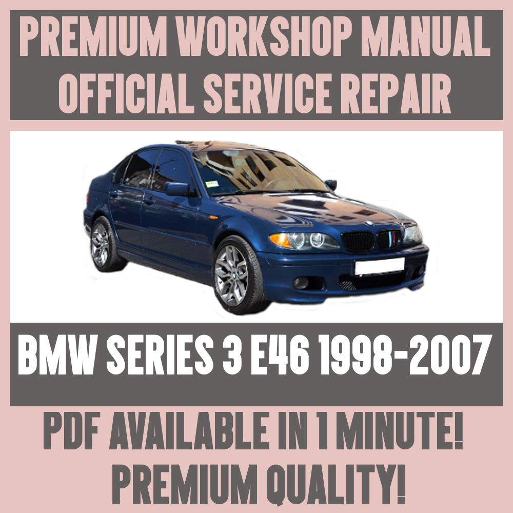 Workshop Manual Service Repair Guide For Bmw 3 Series E46 1998 328 Front Wiring 2007 1 Of 5free Shipping See More