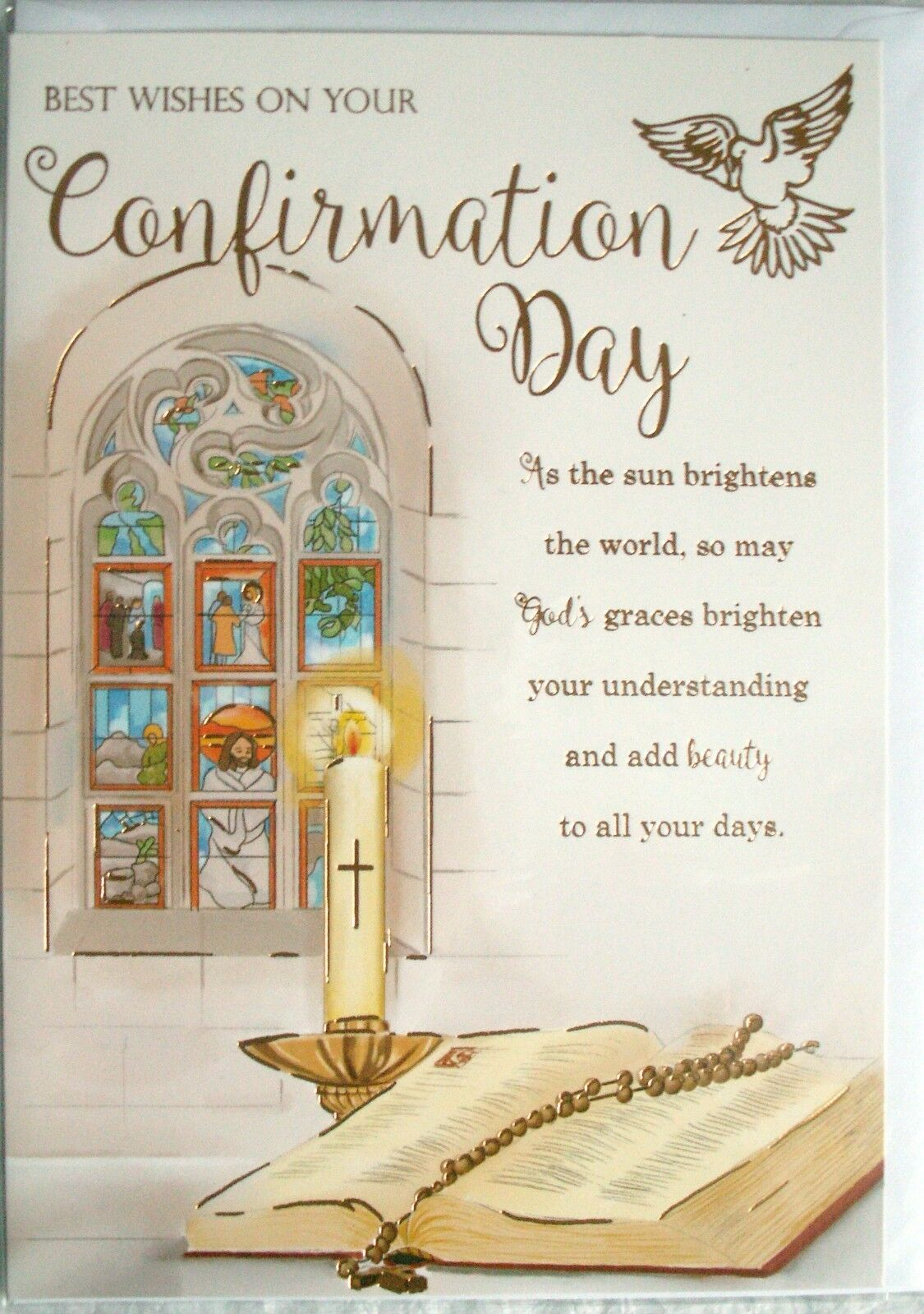 Best Wishes On Your Confirmation Day Greetings Card 199