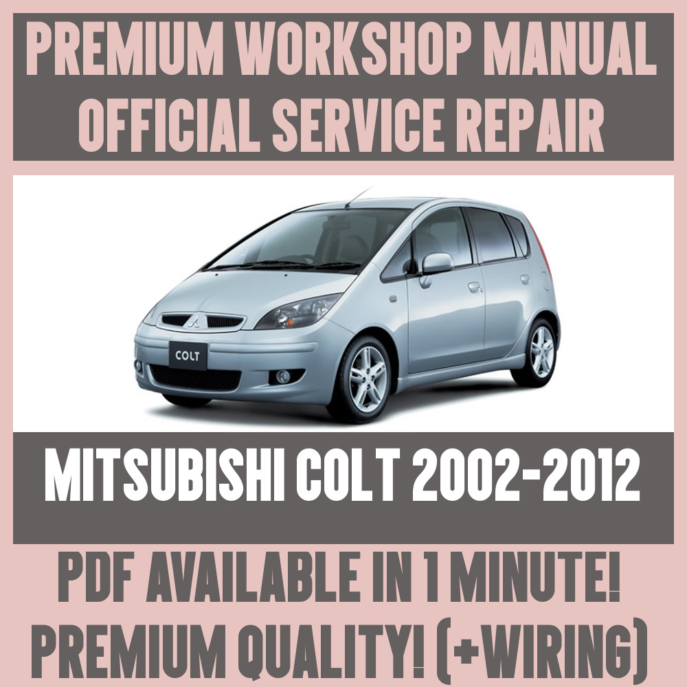 *WORKSHOP MANUAL SERVICE & REPAIR GUIDE for MITSUBISHI COLT 2002-2012  +WIRING 1 of 6FREE Shipping See More