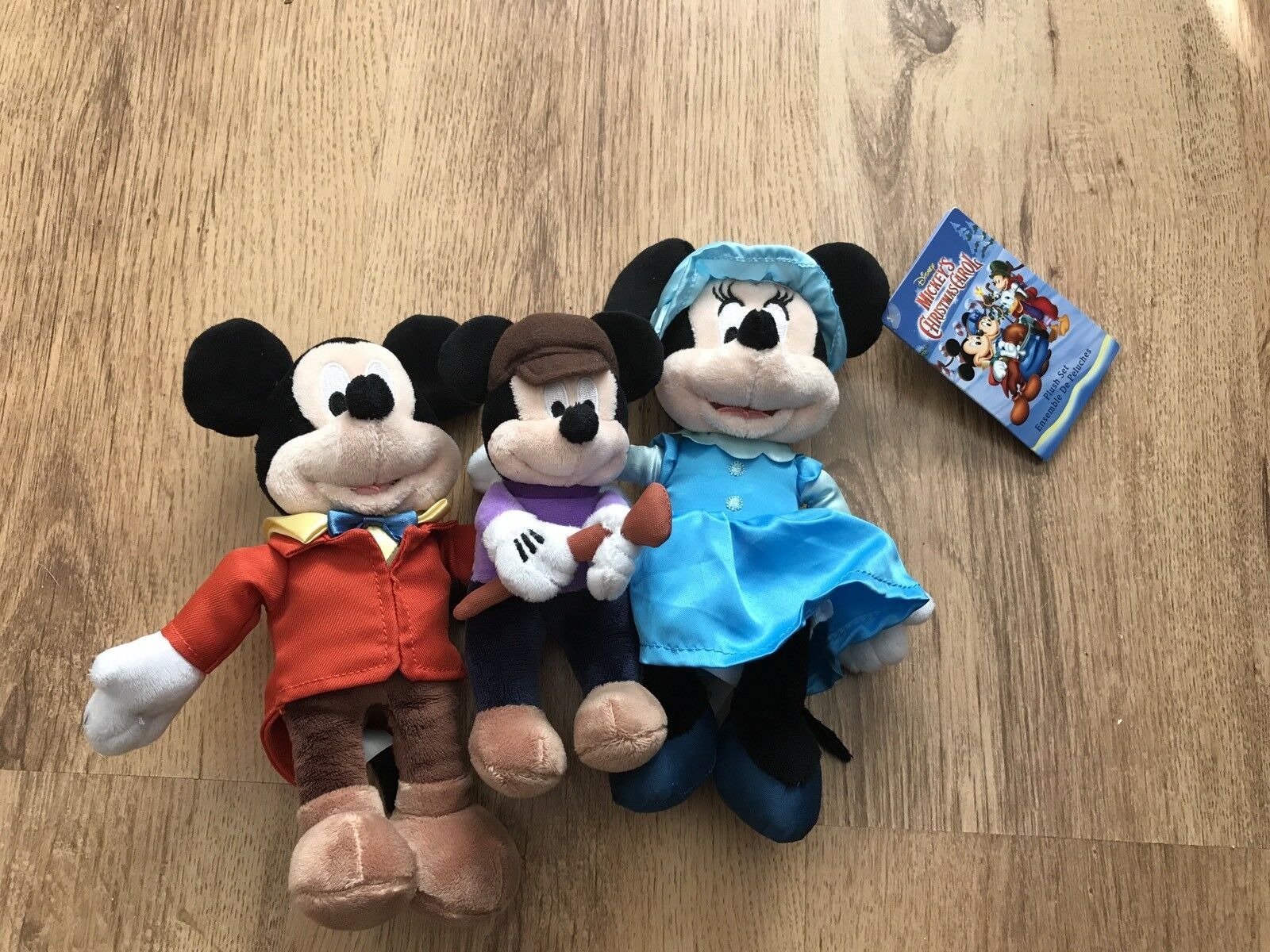 disney store a christmas carol plush soft set mickey mouse minnie tiny tim - Mickey Mouse A Christmas Carol