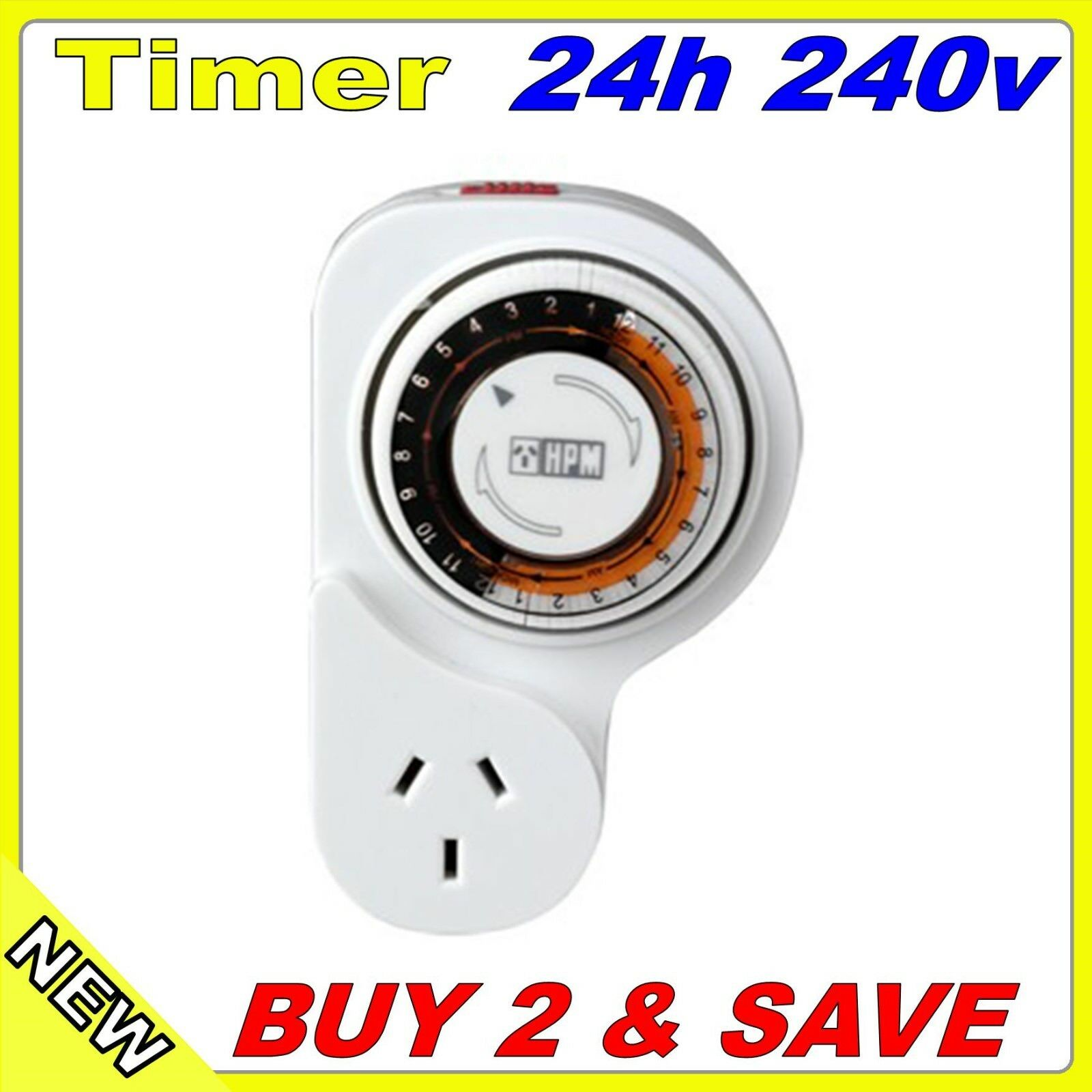 Timer Switch Hpm 24 Hr Manual On Off Heater Led Light 1 Of 3 See More