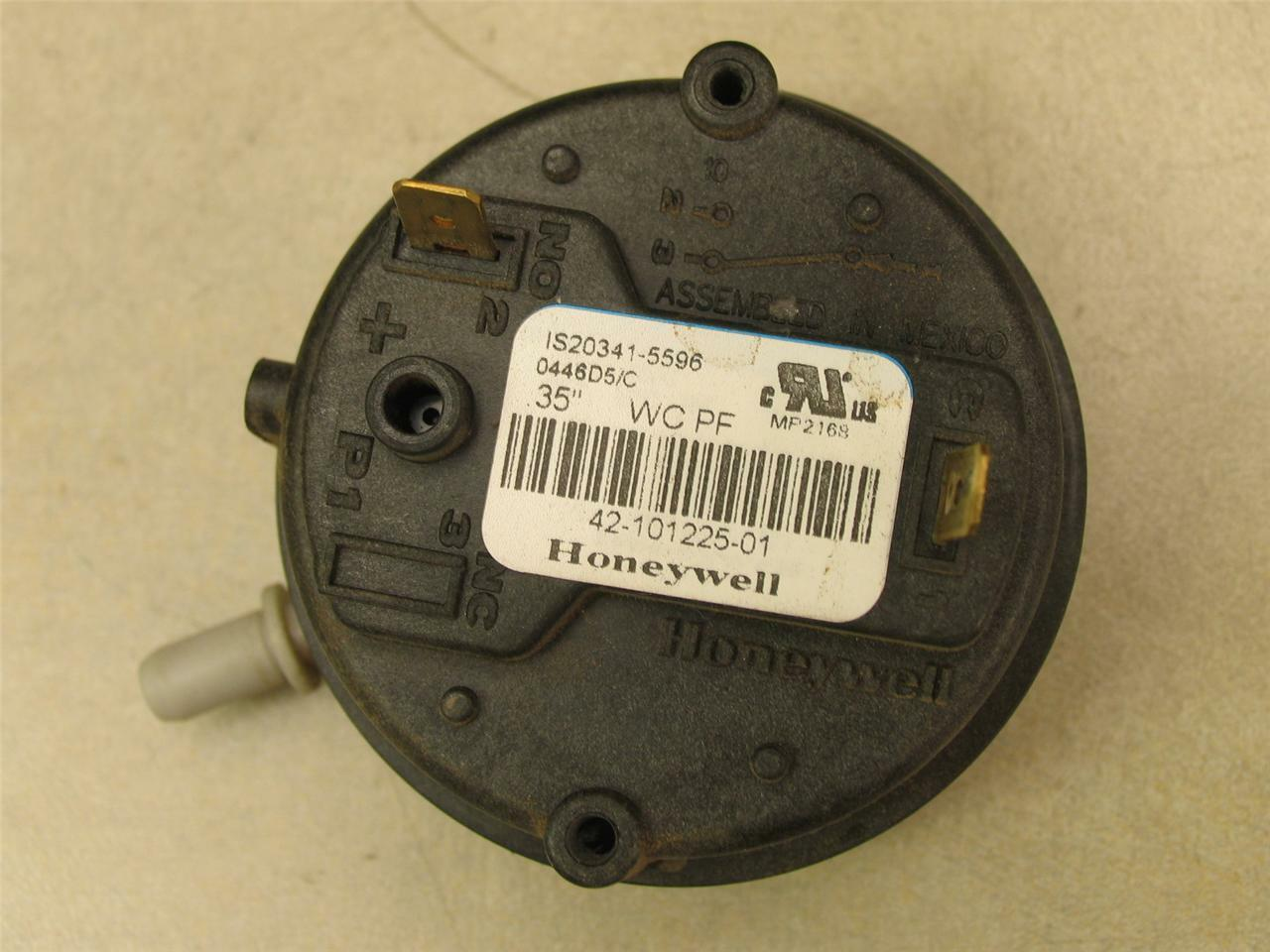 Honeywell 42 101225 01 Air Pressure Switch Is20341 5596 3500 Furnace 1013802 Oem Parts Icp Heil 1 Of 1free Shipping