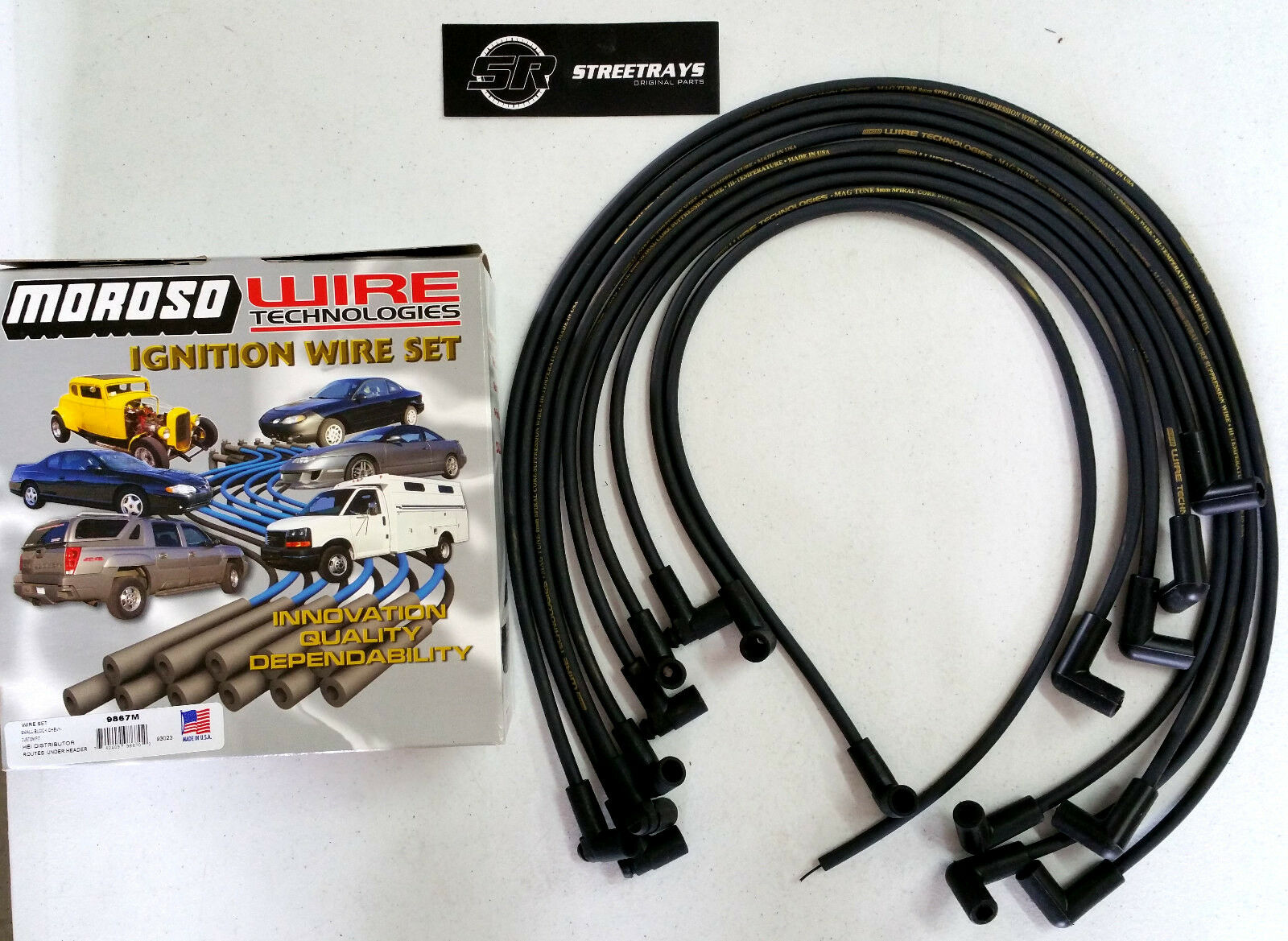 Moroso Sbc Chevy 305 350 Spark Plug Wires Hei 90 Degree Boots Wiring 1 Of 1free Shipping