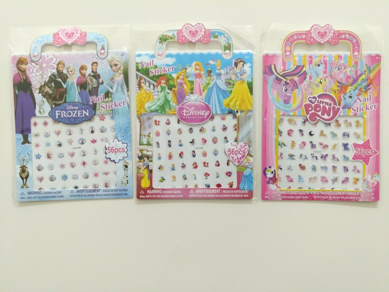 Kids Nail Stickers Lot Adhesive Nail Art Stickers Decals Frozen