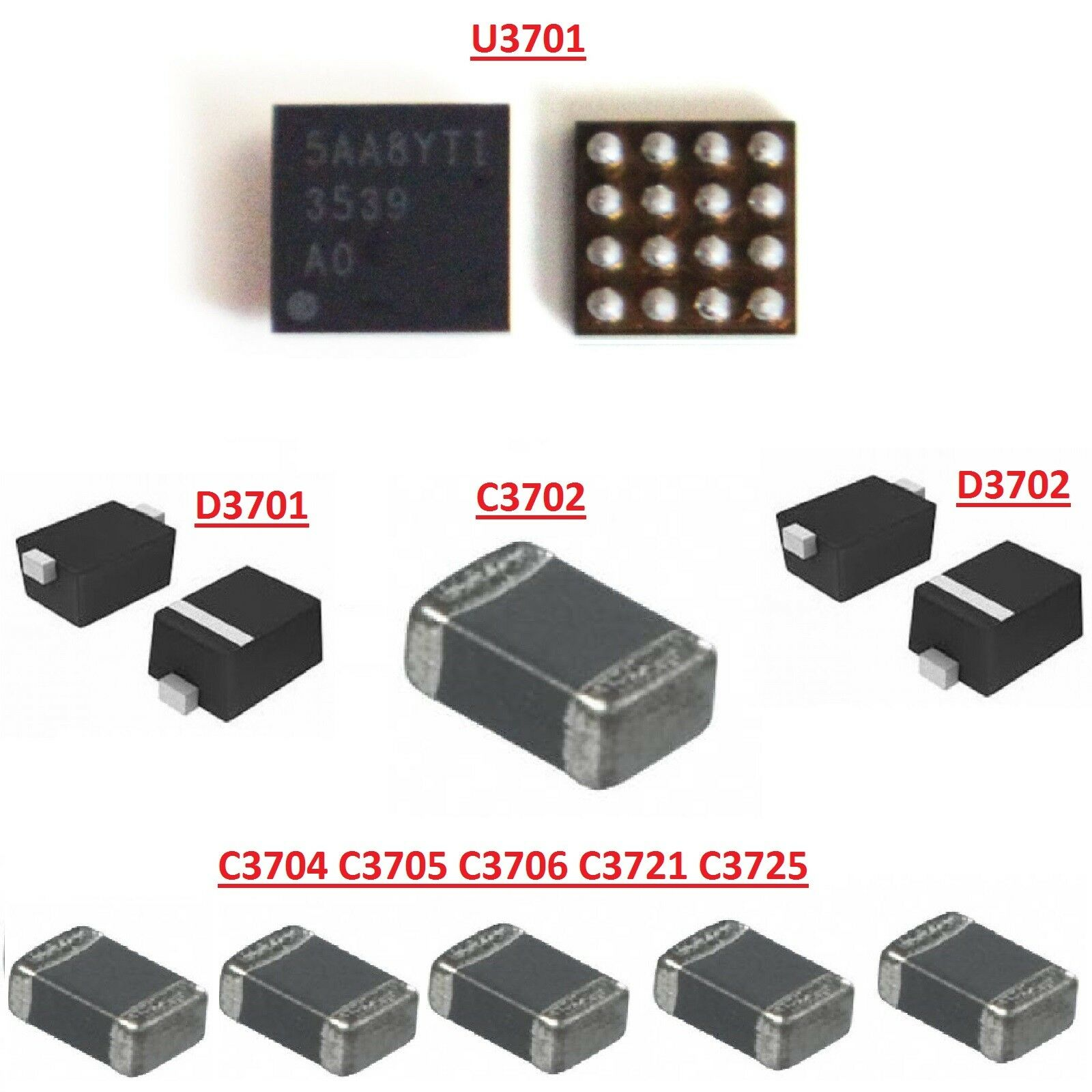 For Iphone 7 Plus Backlight Circuit Repair Kit With Ic Diodes Usb 6g 6p 1610a2 1 Von 6 Siehe Mehr