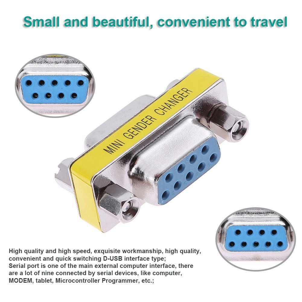 Mini Rs232 Db9 9 Pin Female To Serial D Usb Connector Adapter Kabel Rs 232 15 Meter Converter 1 Of 7free Shipping