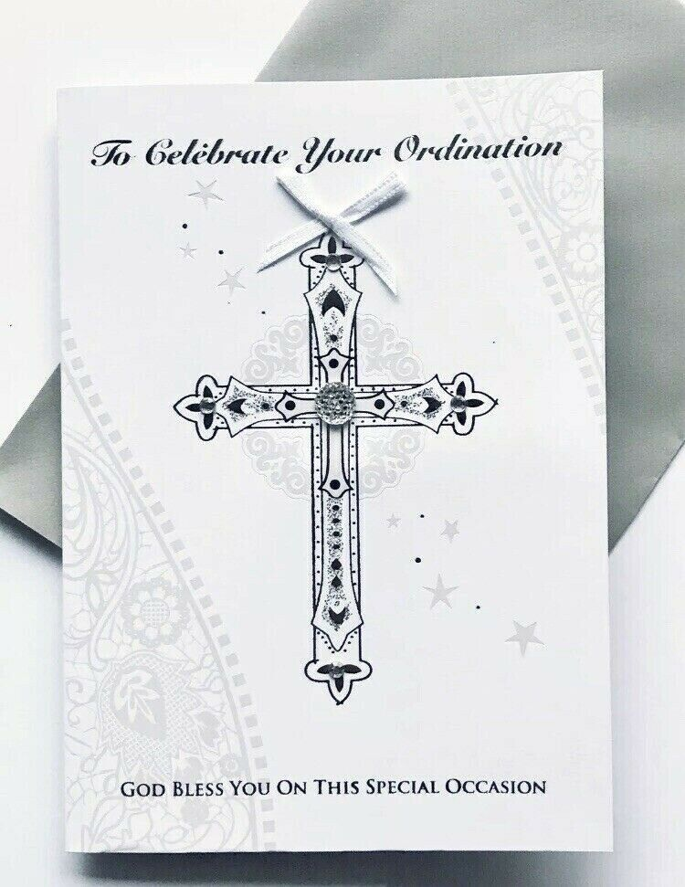To Celebrate Your Ordination Silver Card For All Christian
