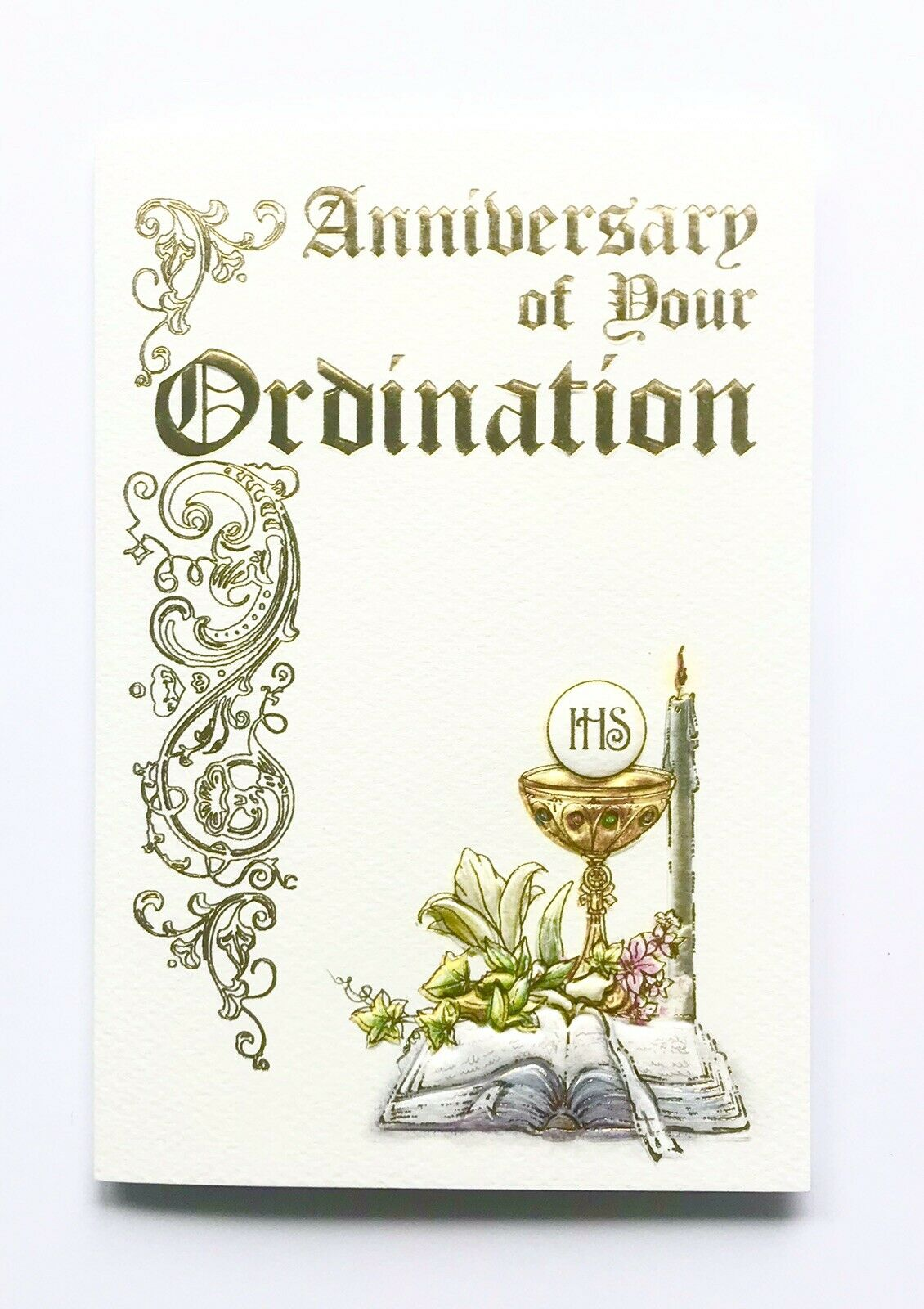 Anniversary Of Your Ordination Beautiful Card With Parchment
