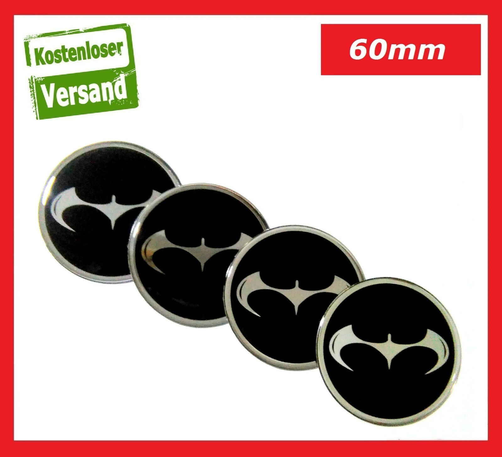 4x 60mm emblem felgen aufkleber nabendeckel felgendeckel. Black Bedroom Furniture Sets. Home Design Ideas