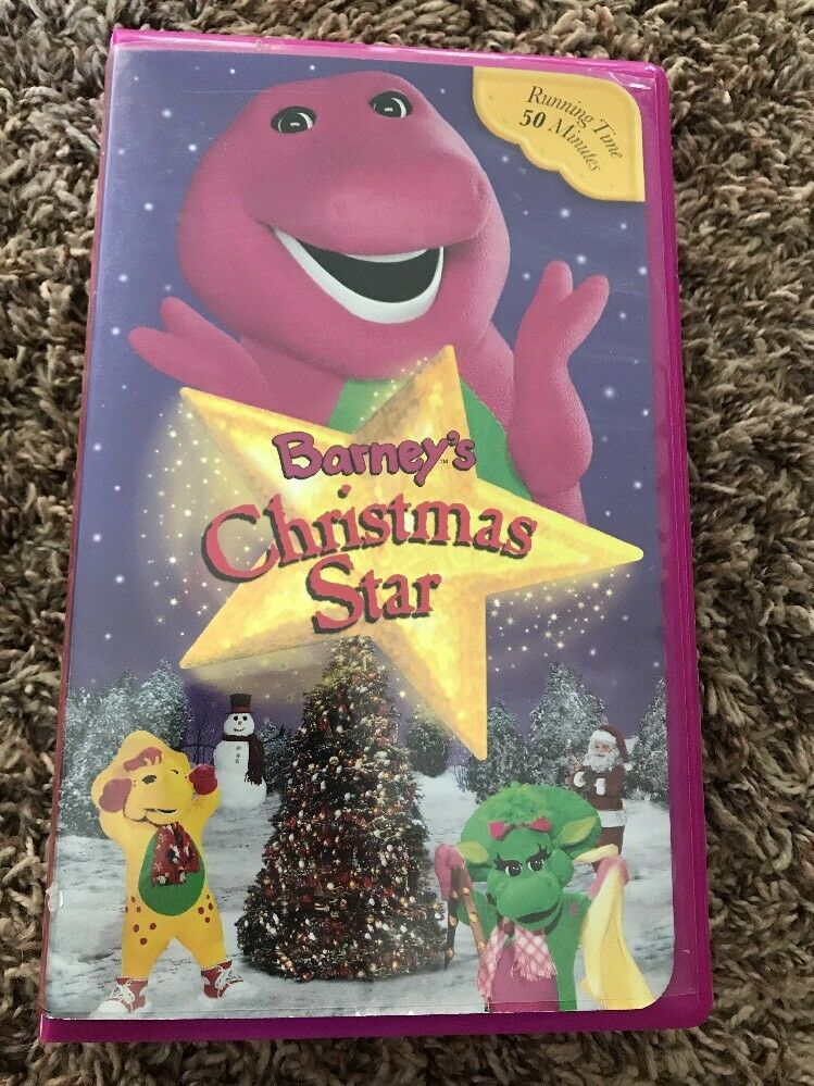 BARNEY\'S CHRISTMAS STAR VHS childrens Video The Purple Dinosaur ...