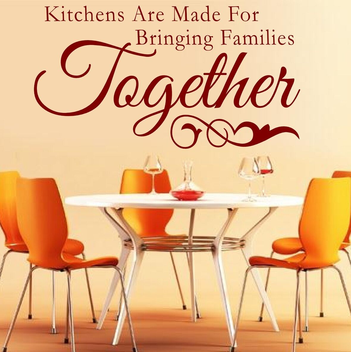 WALL STICKERS QUOTES Kitchens are made for bringing Families Art ...