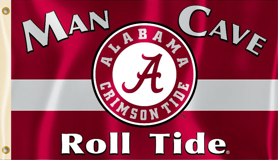 brand new 634bb 60d35 Alabama Crimson Tide 3  x 5  Flag (Roll Tide Man Cave) NCAA Licensed 1 of  3Only 2 available ...