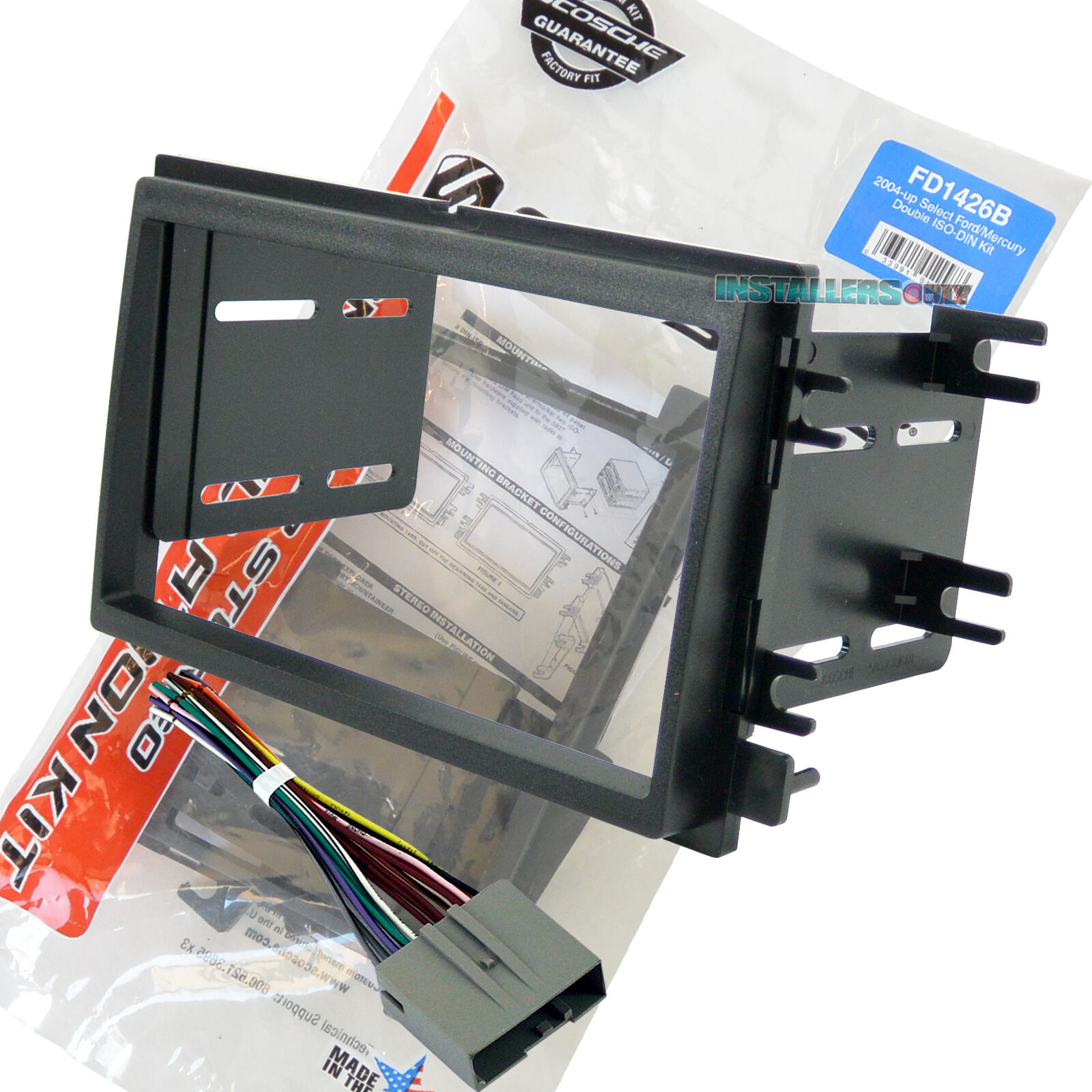 Scosche Fd1426b Double Din Radio Install Dash Kit Wires Car Wiring Installation 1 Of 6free Shipping