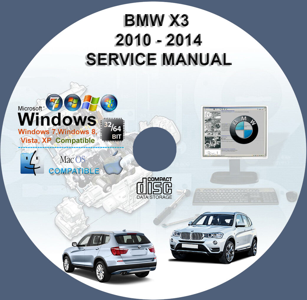 BMW 2010 2011 2012 2013 2014 X3 (F25) Factory Workshop Service Repair Manual  1 of 1FREE Shipping See More