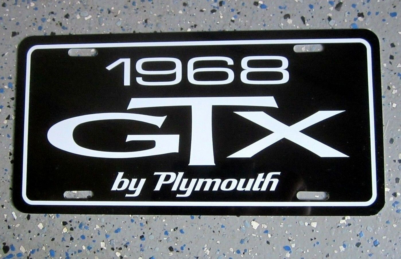 1968 Plymouth Gtx License Plate Car Tag 426 Hemi Super Commando 440 68 Charger Wiring Diagram 1 Of 3only 4 Available