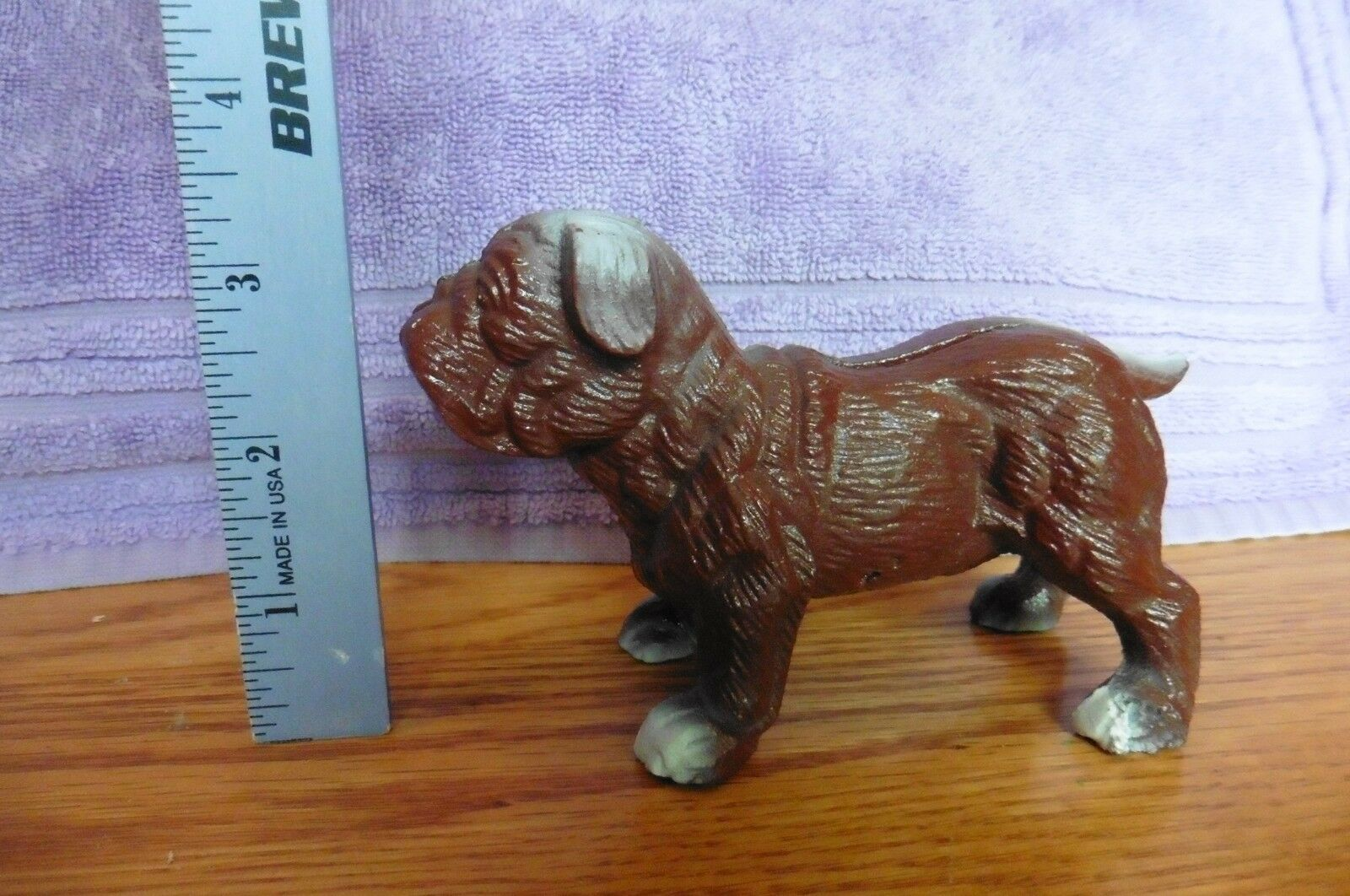 Cast Iron Brown Bull Dog Pug Dog Canine Coin Piggy Bank Door Stop