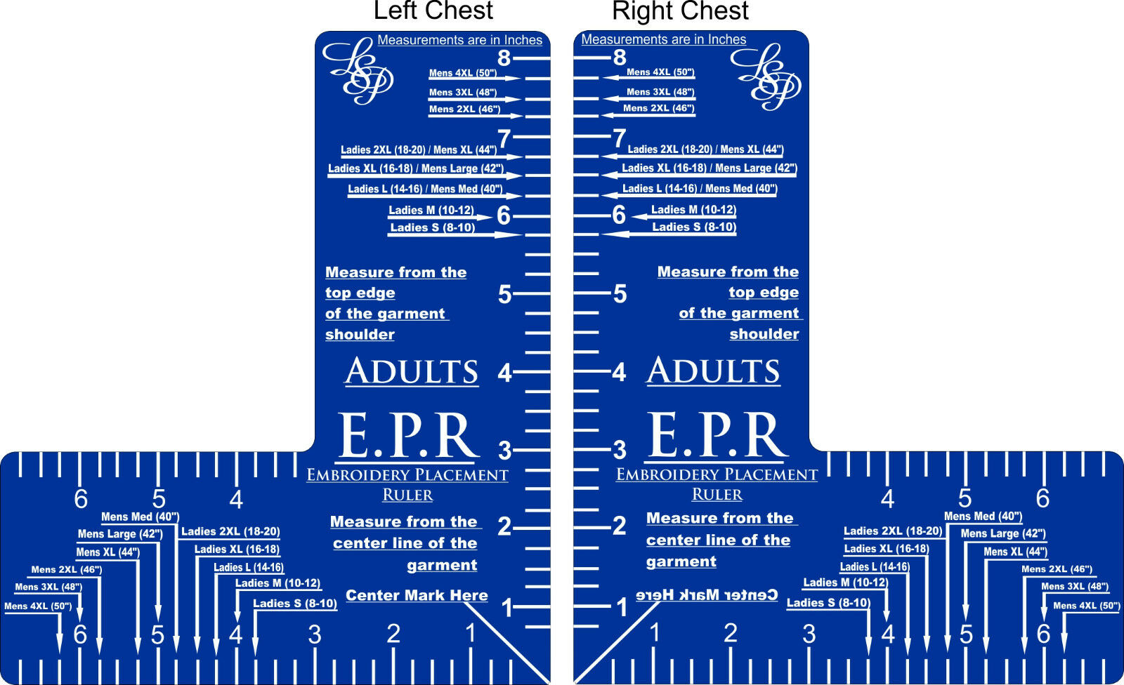 Embroidery Placement Ruler Epr 1499 Picclick Uk