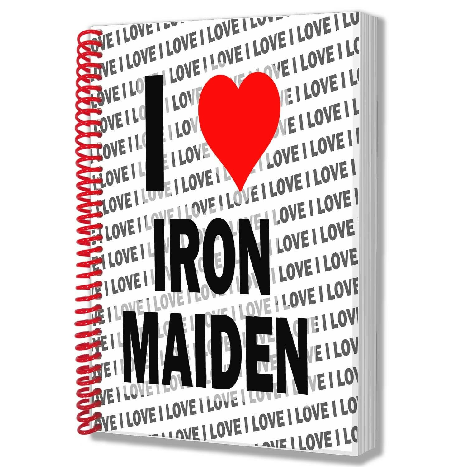I LOVE IRON Maiden - A5 Notebook Pad Diary Drawings Birthday ...