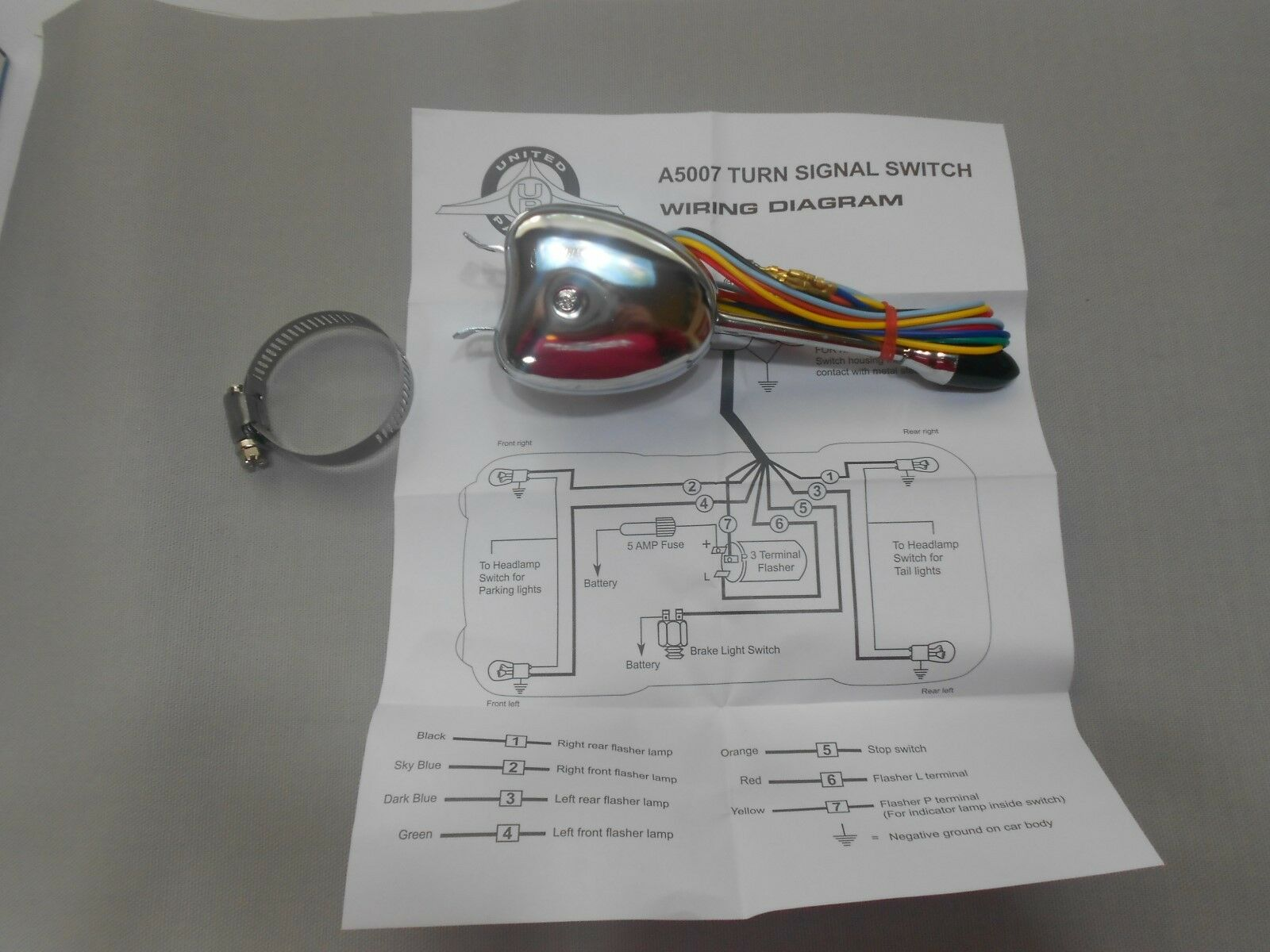Chrome Turn Signal Switch Vintage Car Directional Universal Wiring Diagram Hot Rod