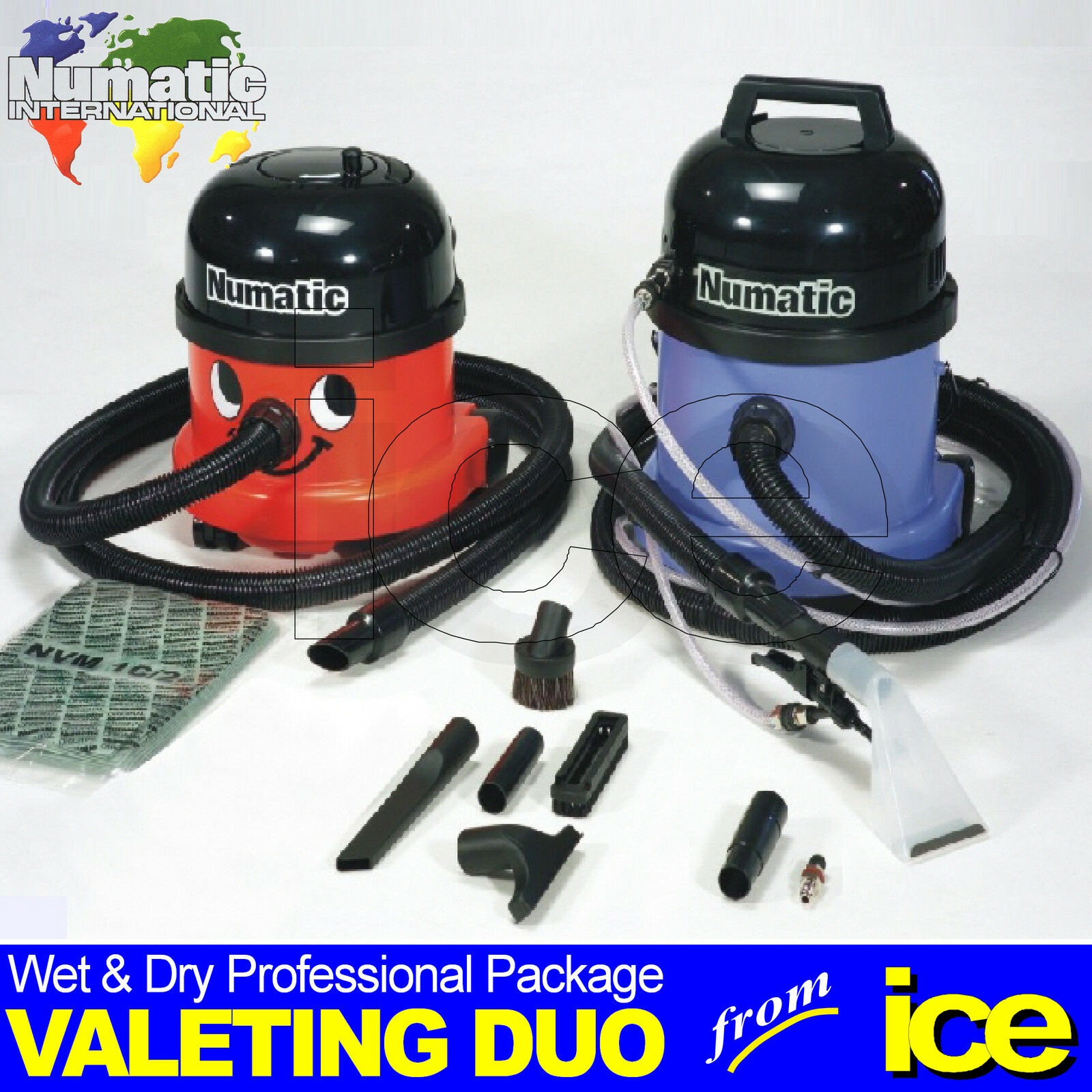 numatic nrv 200 22 dry vacuum ct 370 2 wet extraction upholstery valet cleaner. Black Bedroom Furniture Sets. Home Design Ideas