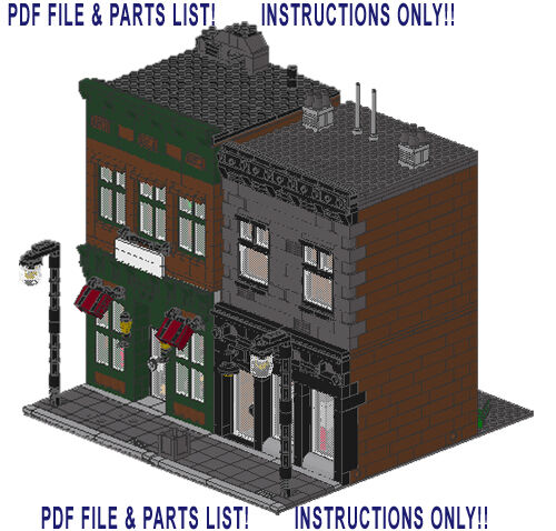 Lego Custom 2 Modular Buildings Store Instructions Only 1000