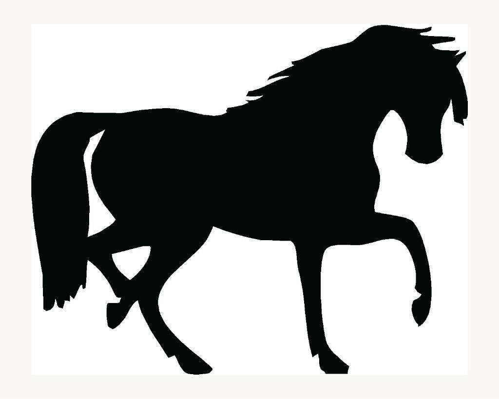 Horse Sticker Car Window Decal Vinyl Farm Raise Cute Love Pony Ride Stallion Fun