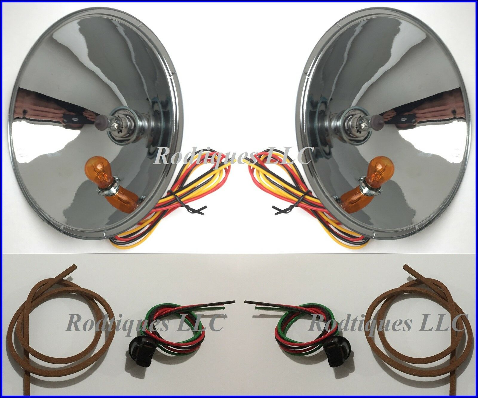 Air Compressor Wiring Harness Ford Cars Headlight Conversion Kit Volt Turn Picclick Com Power Wheels Battery