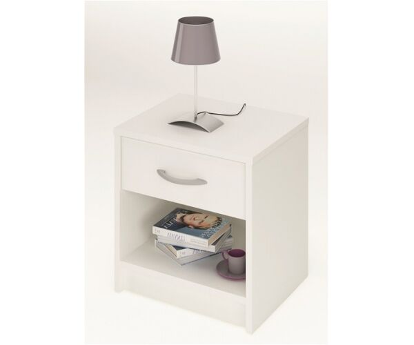 nachtkommode beistelltisch beistellkommode isis in weiss mit 1 schublade eur 21 90 picclick de. Black Bedroom Furniture Sets. Home Design Ideas
