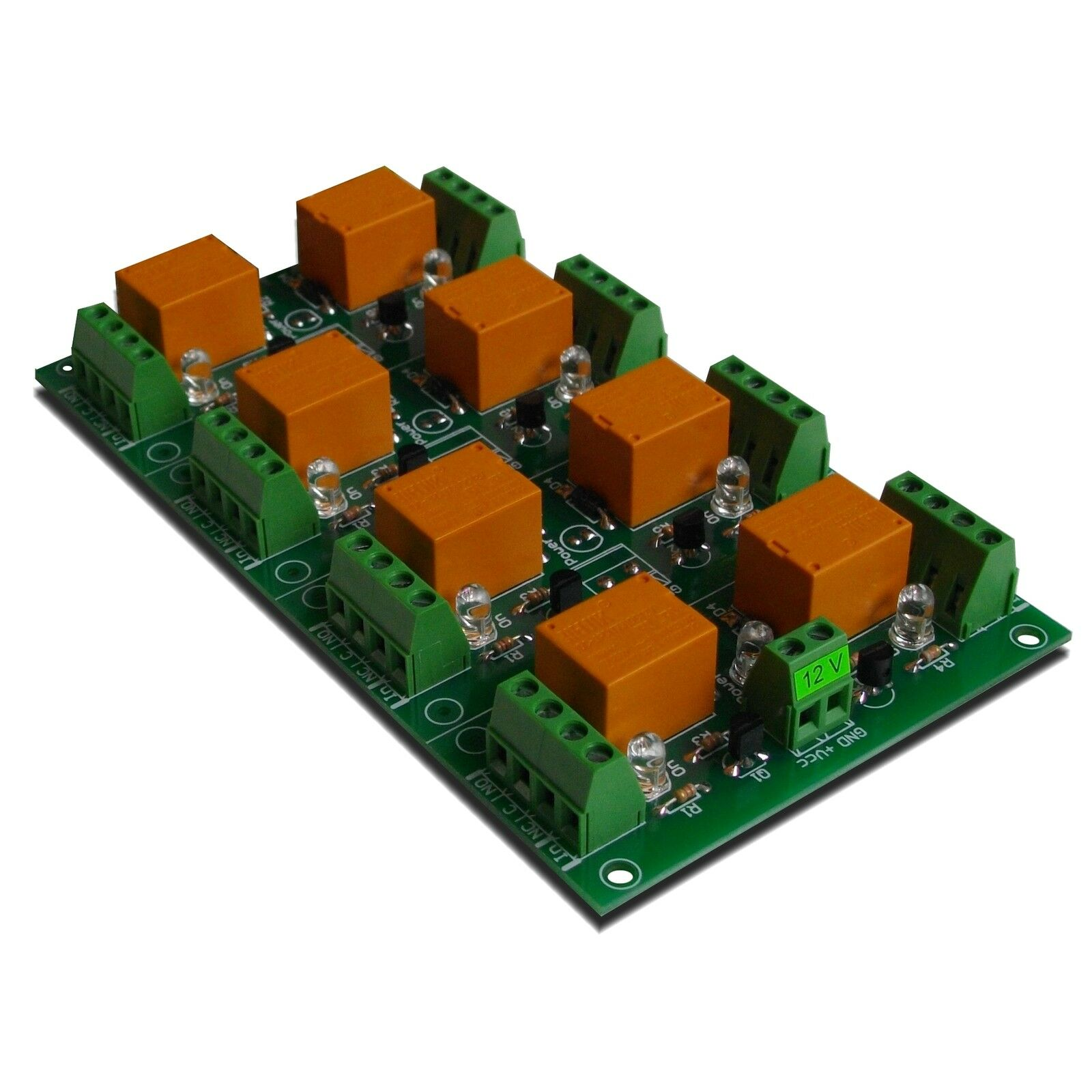 12v 8 Channel Relay Module Switch Board For Arduino Pic Arm Avr Dpdt 1 Of 4 See More