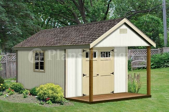 Guest House Construction : Cabin guest house building covered porch shed