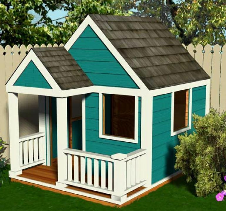 simple wooden playhouse plans 6 39 x 8 39 diy pdf