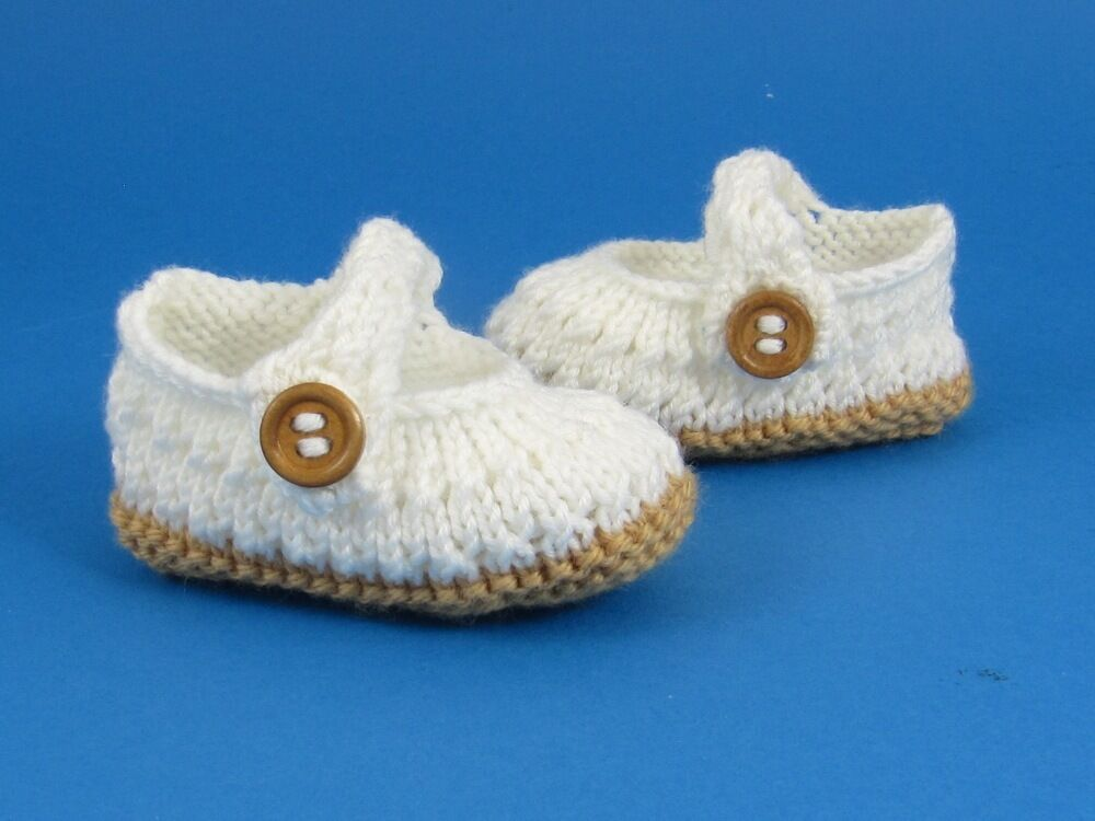 Knitting Instructions Baby Simple Lace Sandals Shoes Booties