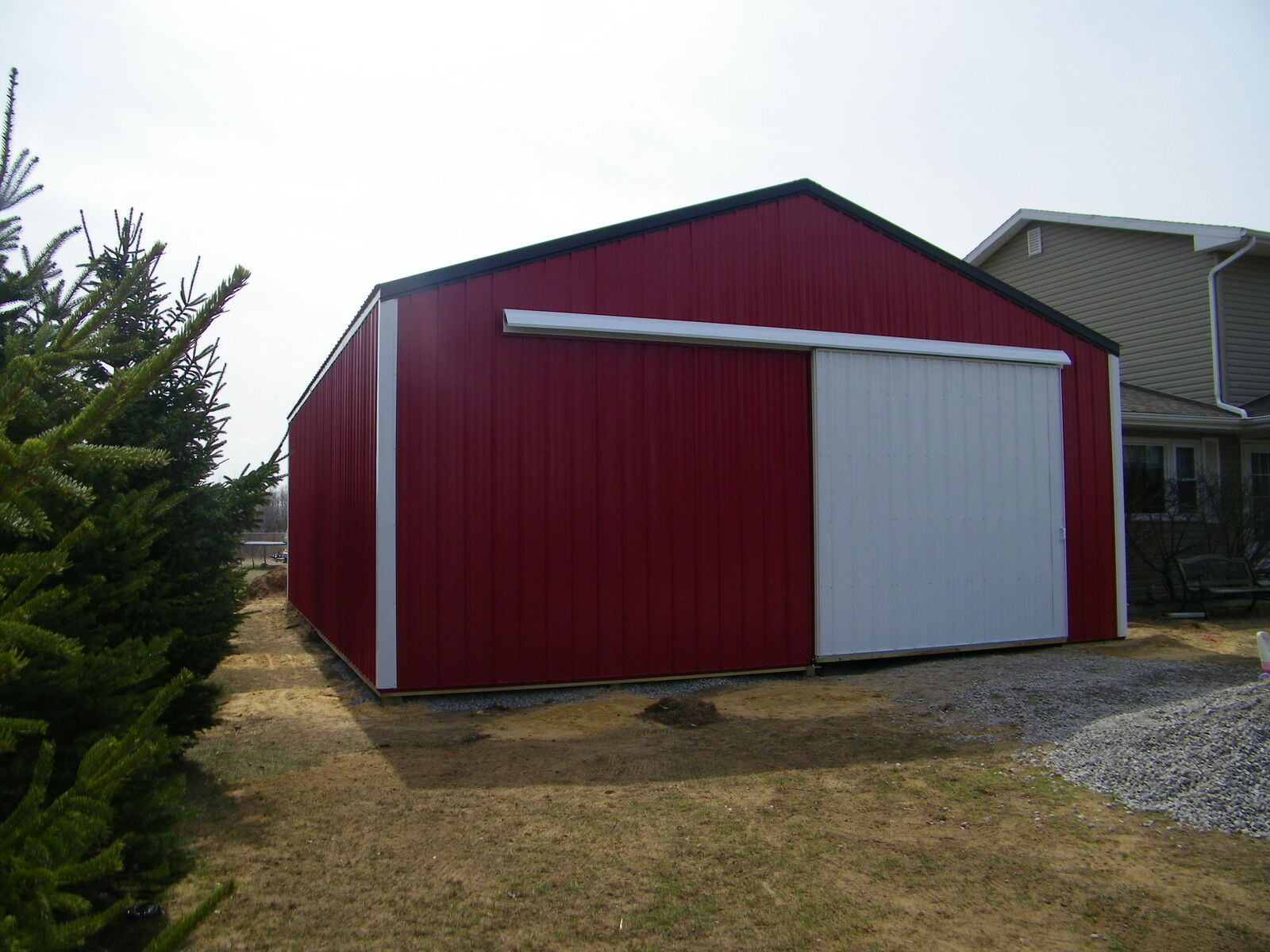 Pole barn package 30x40x10 kit garage post frame plans Garage barn