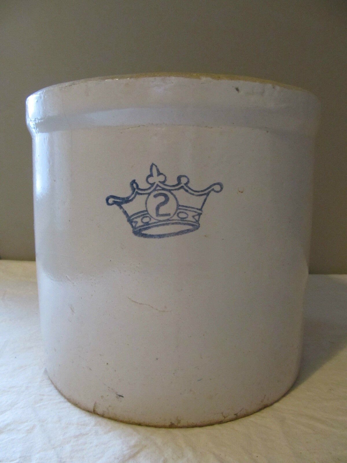 Vintage Robinson Ransbottom 2 Gallon Quot Blue Crown Quot Pottery