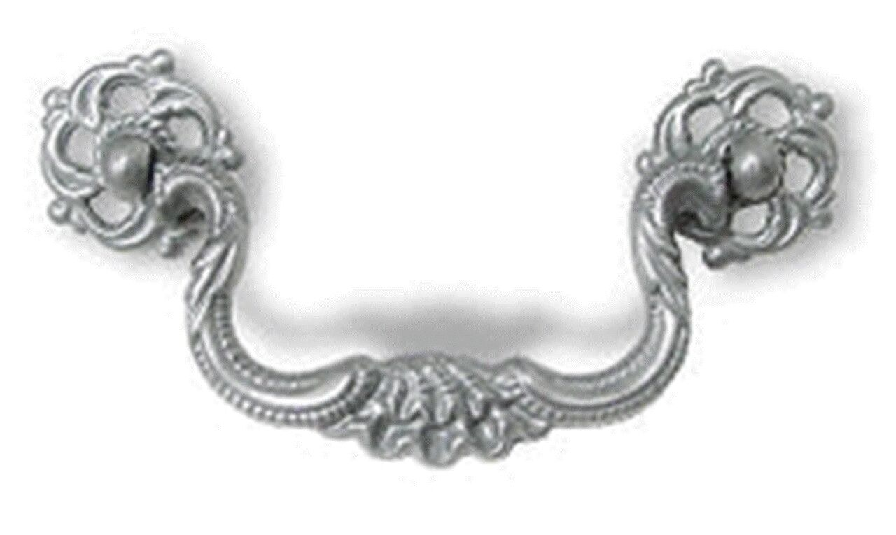 """P-2101 Satin Pewter Bail Pull 3-1/2"""" Centers"""