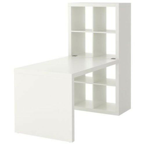 New ikea expedit workstation computer desk bookcase table for Bureau blanc ikea
