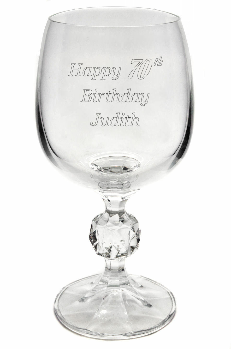 Th Birthday Wine Glass Engraved