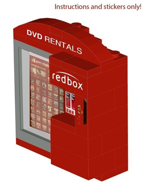Movie Kiosk Vending Machine Instructions Stickers 4 Lego 10185 10224