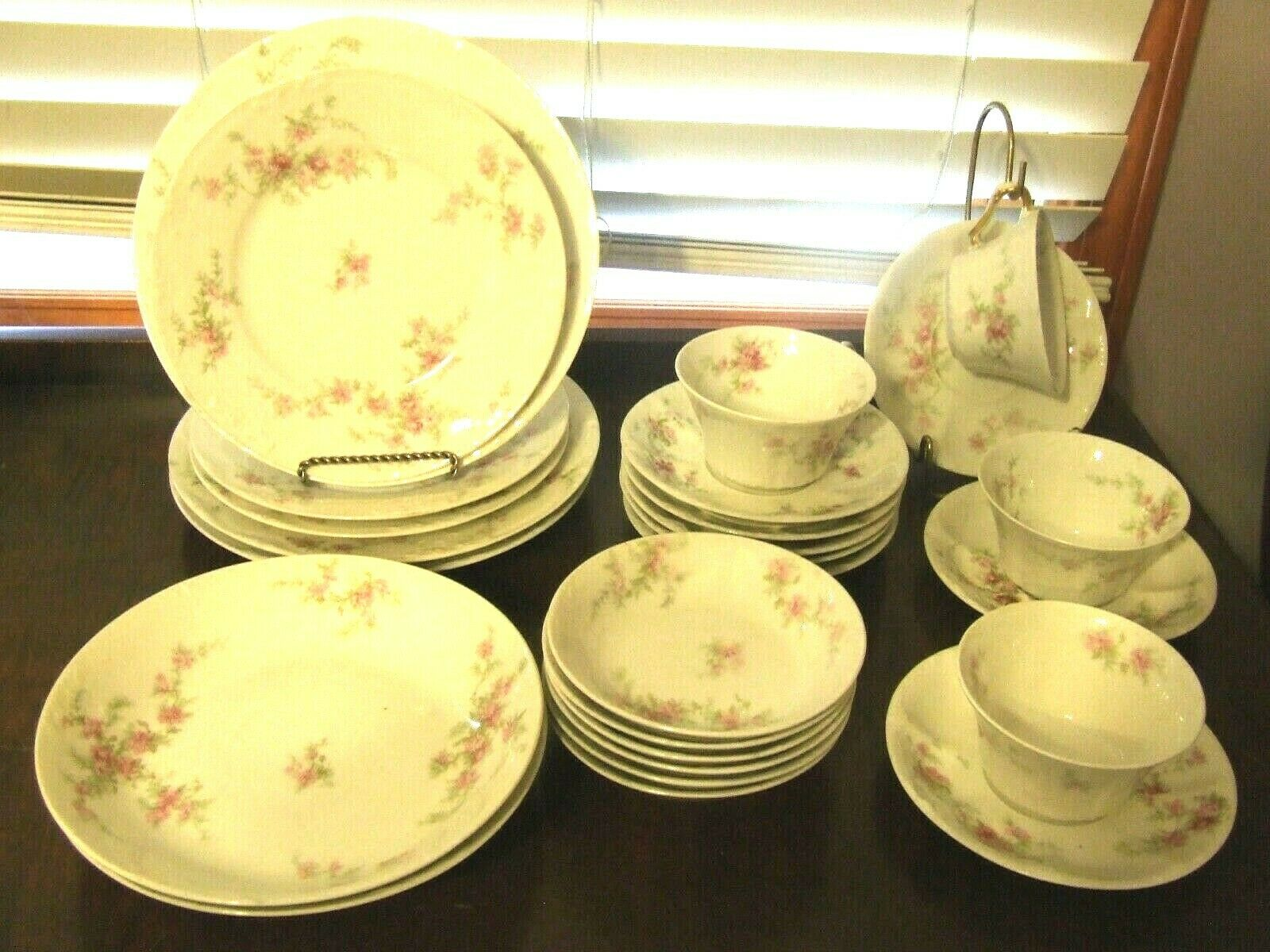 Antique 1903 Theodore Haviland Limoges China Pink Floral 26 Pc Lot