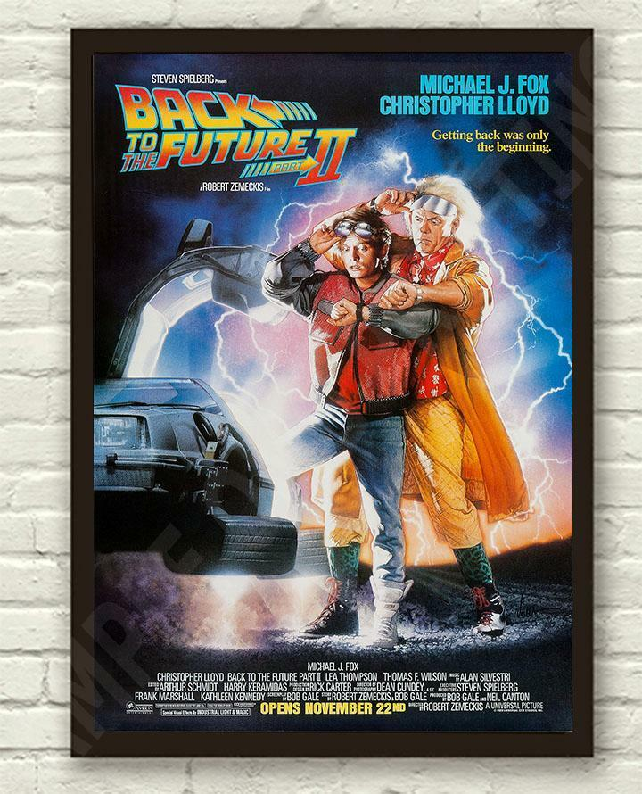 Back To The Future Part 2 Michael J Fox Movie Film Poster ...