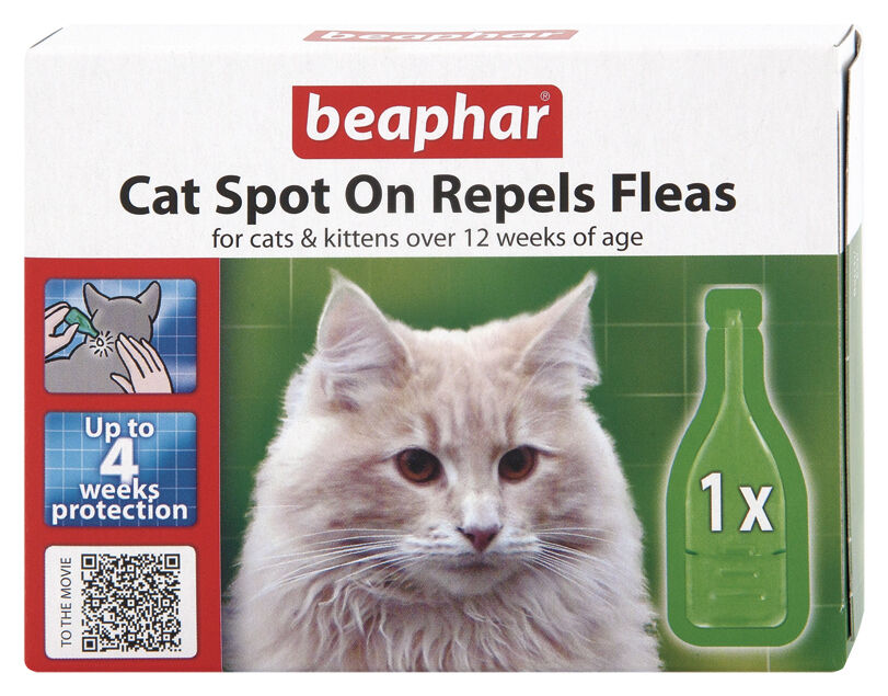 Beaphar Cat & Kittens Spot On Repel Fleas Quickly  4,12 24 Weeks Protection