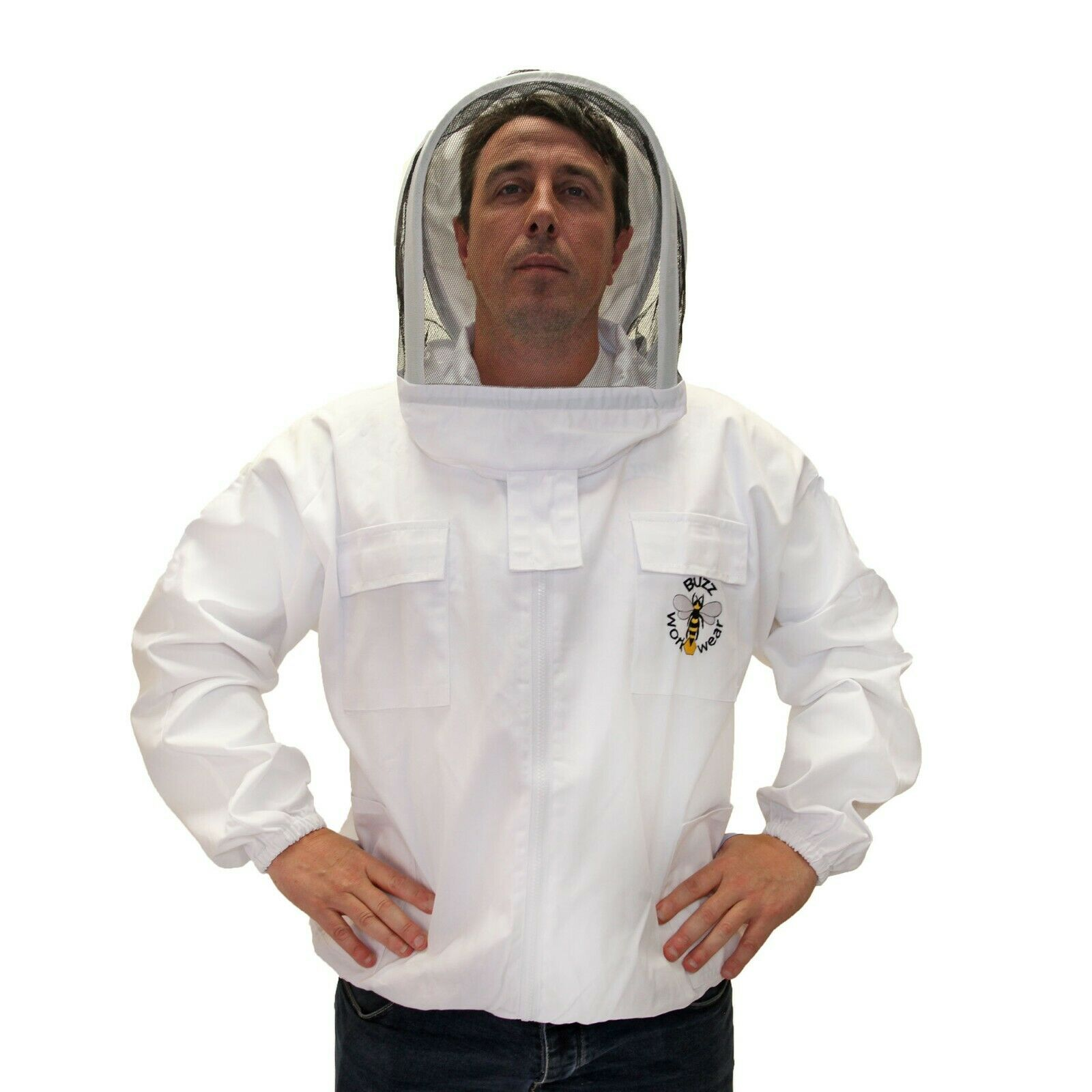 Buzz Beekeepers Jacket with fencing veil and front zip -  4XL