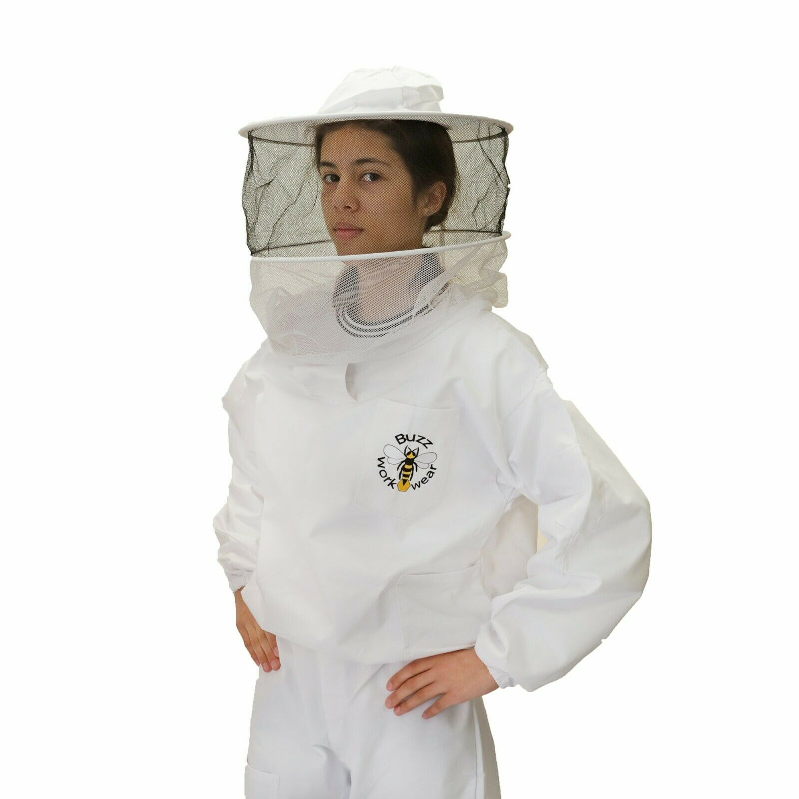 Buzz Beekeepers Bee Jacket/Tunic with Round Veil - EXTRA SMALL