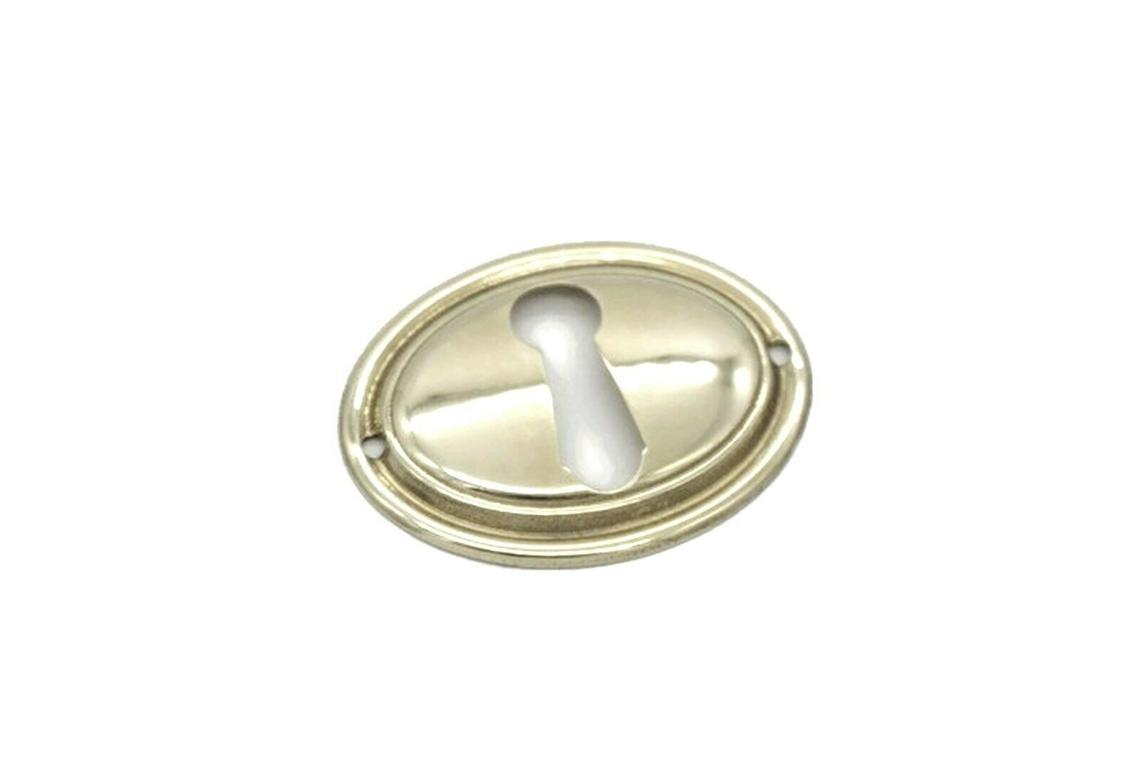 Keyhole Cover Escutcheon Chippendale Colonial Antique Style Solid Brass