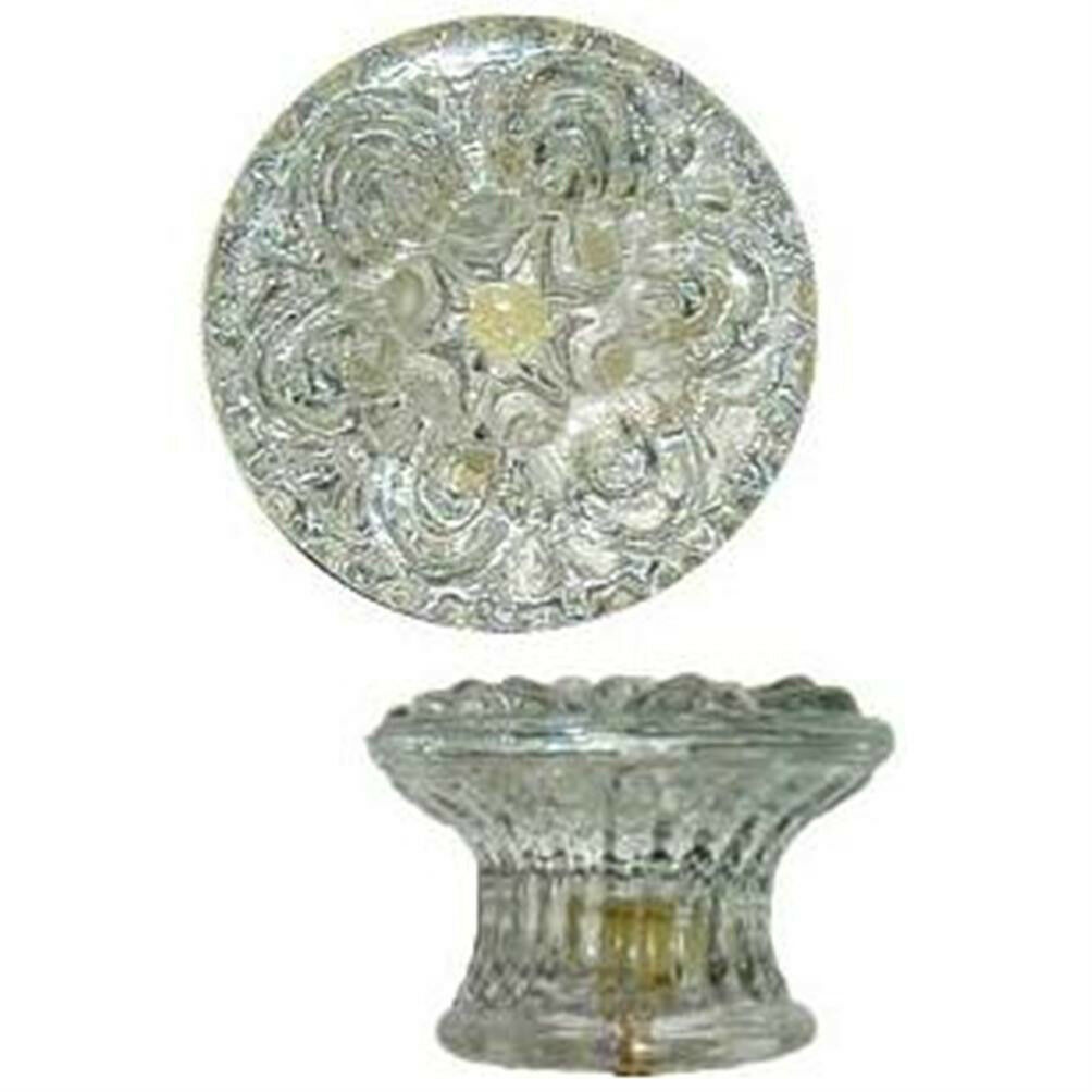 """KG-44 EMPIRE STYLE CLEAR GLASS KNOB (Reproduction)  2-1/8"""" DIA."""