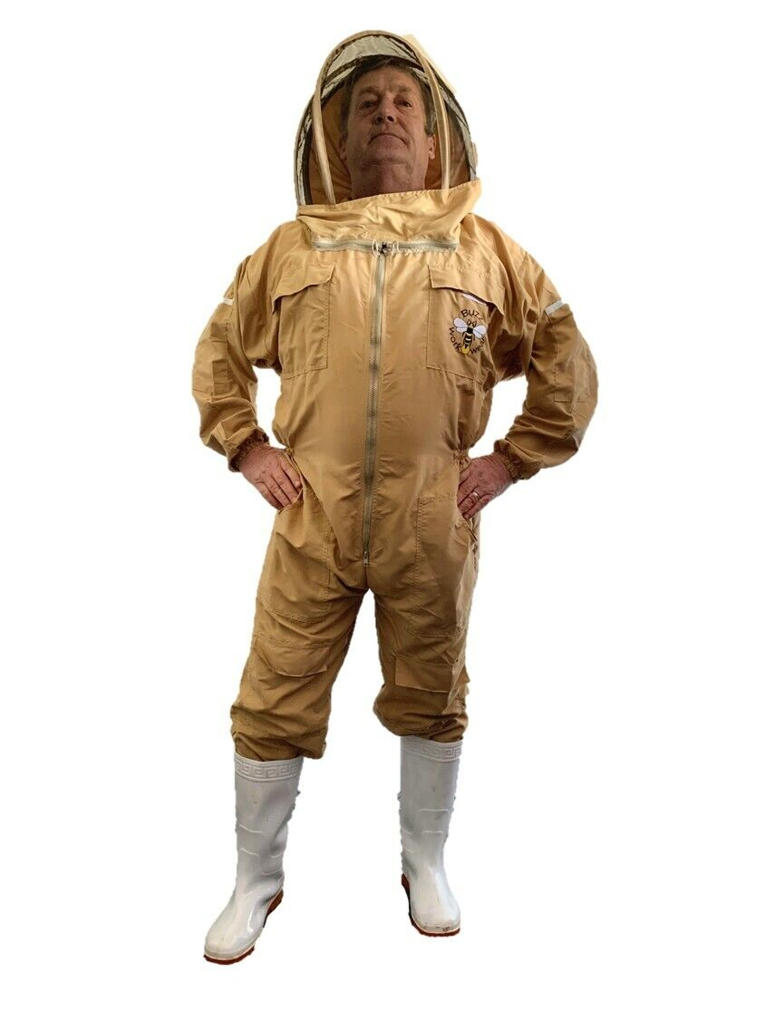 Lightweight BUZZ Beekeepers Bee suit - Colour latte, X X LARGE ( 2XL )