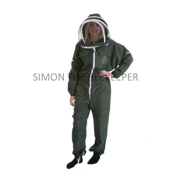 Lightweight BUZZ Beekeepers Bee suit - Colour Forest Green. Size: Medium