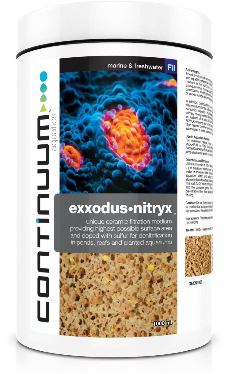 CONTINUUM EXXODUS•NITRYX (Nitrate removal for 3-5 years) Nothing Lasts Longer.