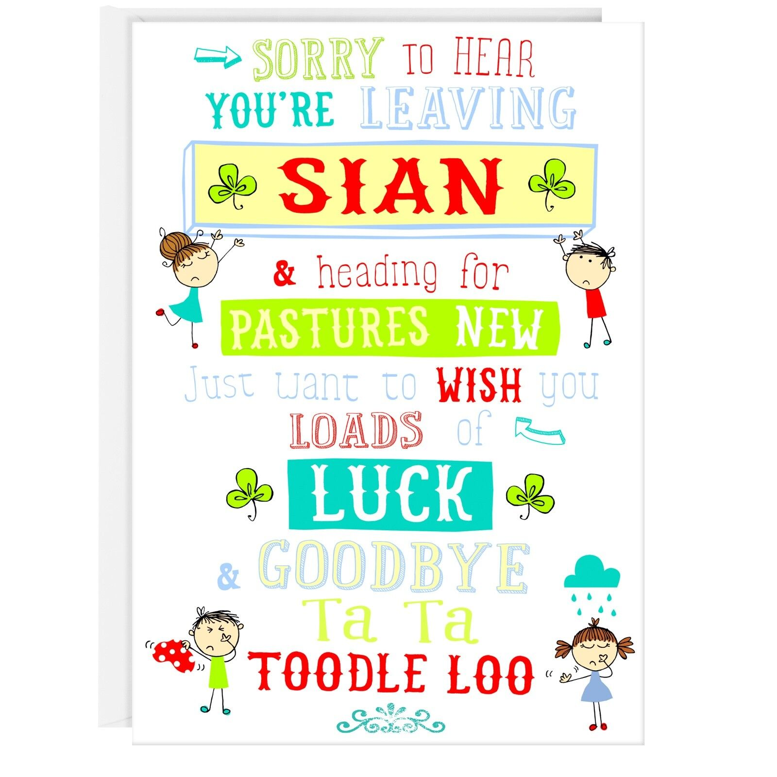 Youre Leaving Card Funny Humour Greetings Cute Goodbye Poem Verse